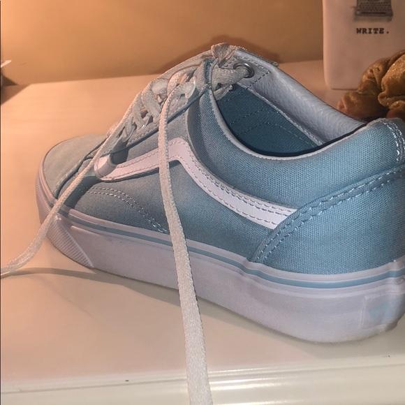 Vans Shoes | Blue Pastel Vans | Poshmark